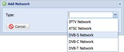 Adding a DVB-S network
