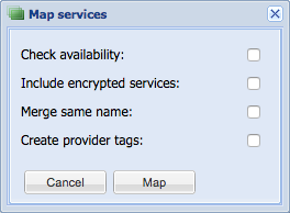 Map services options